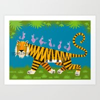 Tiger Transportation Art Print