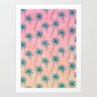 Palm Tree Pattern Art Print