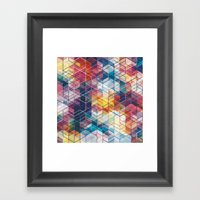Cuben Curved #5 Geometri… Framed Art Print