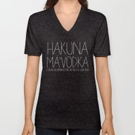 Hakuna Ma'Vodka Unisex V-Neck