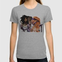 Badu Womens Fitted Tee Athletic Grey SMALL