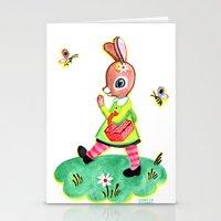 Rebecca Rabbit As Franco… Stationery Cards