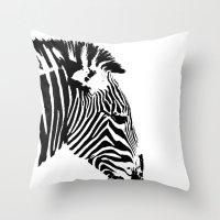 Zebra Portrait Throw Pillow