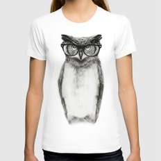 Mr. Owl Womens Fitted Tee White SMALL