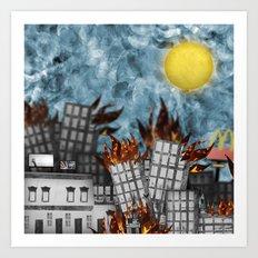 Hell Fire & McDonalds Art Print