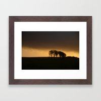sun going down Framed Art Print