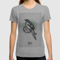 Shiny Womens Fitted Tee Athletic Grey SMALL