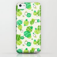 iPhone 5c Cases featuring Floating Lilly Pad Watercolor by Claire Lines