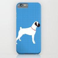 White Boxer Dog Art Print iPhone 6 Slim Case