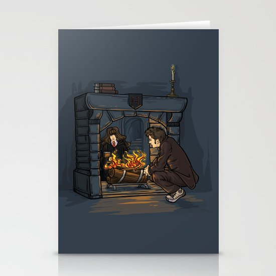 The Witch in the Fireplace Stationery Card