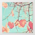 Two hearts on mint Canvas Print