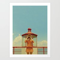 moonrise kingdom Art Prints featuring MOONRISE KINGDOM by VAGABOND