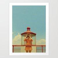 moonrise kingdom Art Prints featuring MOONRISE KINGDOM by VAGABOND