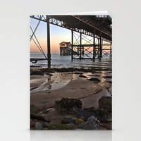 Stationery Card featuring Under the Boardwalk. by Becky Dix