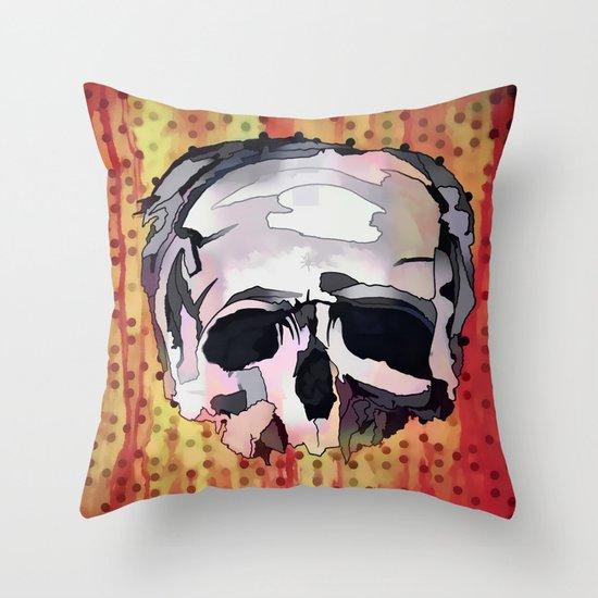 Skully. Throw Pillow