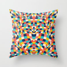Curved Squares Throw Pillow