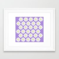 Lilac daisies Framed Art Print