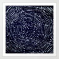 Stars Long Exposure Art Print