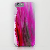 iPhone & iPod Case featuring Purple Clouds Red Mountain by Orlando