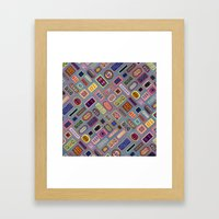 Multi-color Melody Framed Art Print