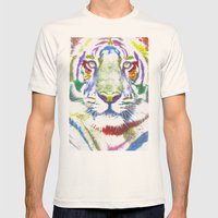 ROAR (tiger color version) Mens Fitted Tee Natural SMALL