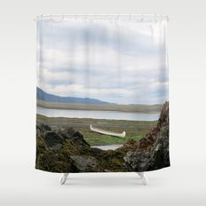 Abandoned :: A Lone Canoe Shower Curtain