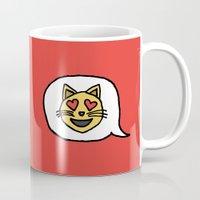 Emoji - Cat with Heart Eyes Mug