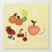 Mixed Fruit Illustration Canvas Print