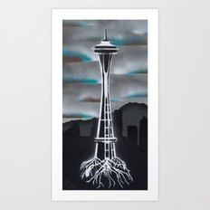 Rooted in Seattle 2 Art Print