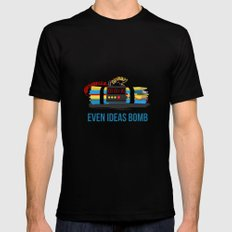 Even ideas bomb Black SMALL Mens Fitted Tee