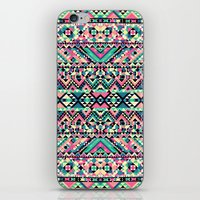Pink Turquoise Girly Azt… iPhone & iPod Skin