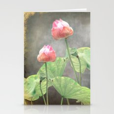 Asiatic Flowers in Pale Pink Stationery Cards