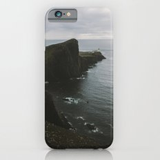 Neist Point Lighthouse at the Atlantic Ocean - Landscape Photography iPhone 6 Slim Case
