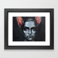 Ears are swelling Framed Art Print