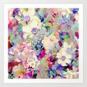 summery floral Art Print
