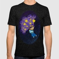 Dreaming Girl Mens Fitted Tee Tri-Black SMALL