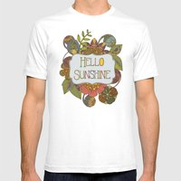 Hello Sunshine Mens Fitted Tee White SMALL