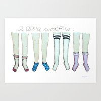 I like socks Art Print