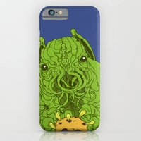 iPhone & iPod Case featuring cthulhu wants a cookie by motorbot