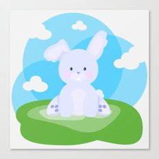 Bunny in country Canvas Print
