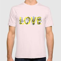 IT'S LOVE Mens Fitted Tee Light Pink SMALL