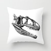 Allosaurus Throw Pillow