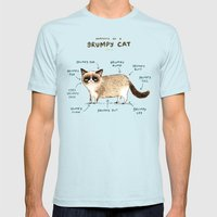Anatomy of a Grumpy Kitty Mens Fitted Tee Light Blue SMALL