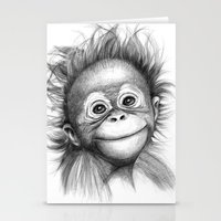Monkey - Baby Orang Outa… Stationery Cards