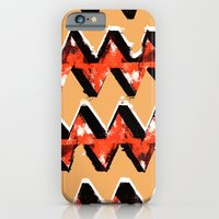 Orange and Black Zig Zag Pattern Print iPhone 6 Slim Case