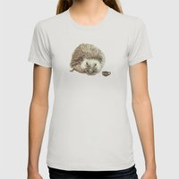 Hector The Hedgehog Womens Fitted Tee Silver SMALL