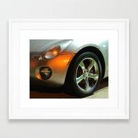 Shiny Silver Car Framed Art Print