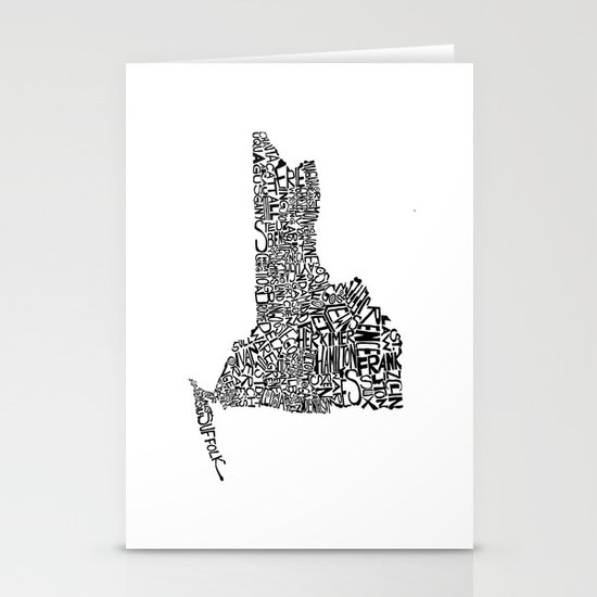 Typographic New York Stationery Card