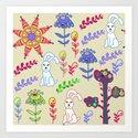 Bunnyes Art Print