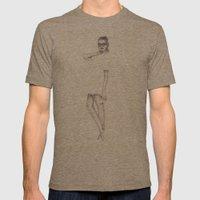 No.3 Fashion Illustratio… Mens Fitted Tee Tri-Coffee SMALL
